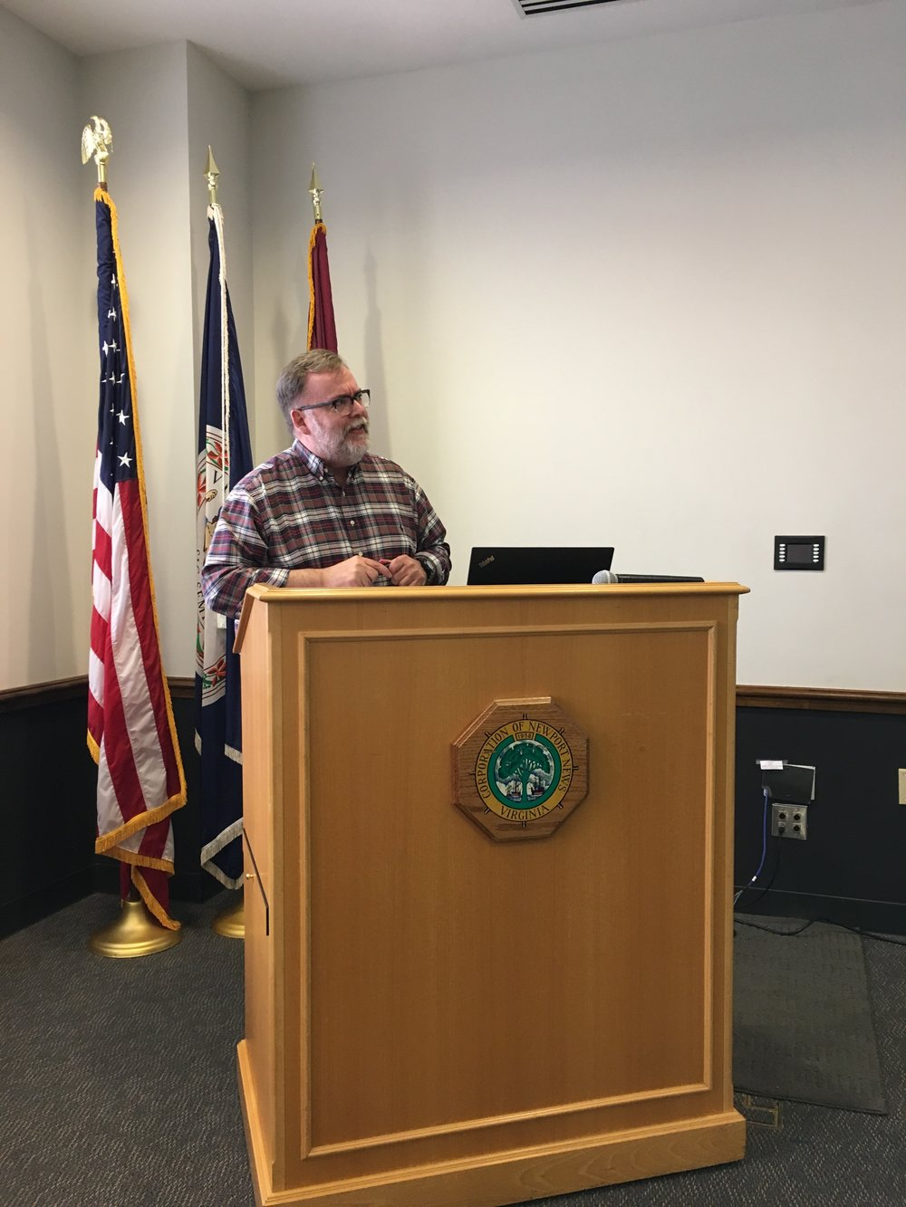 Tom Brockenbrough, Accomack County, presented on a recent CRS Cycle Visit with ISO