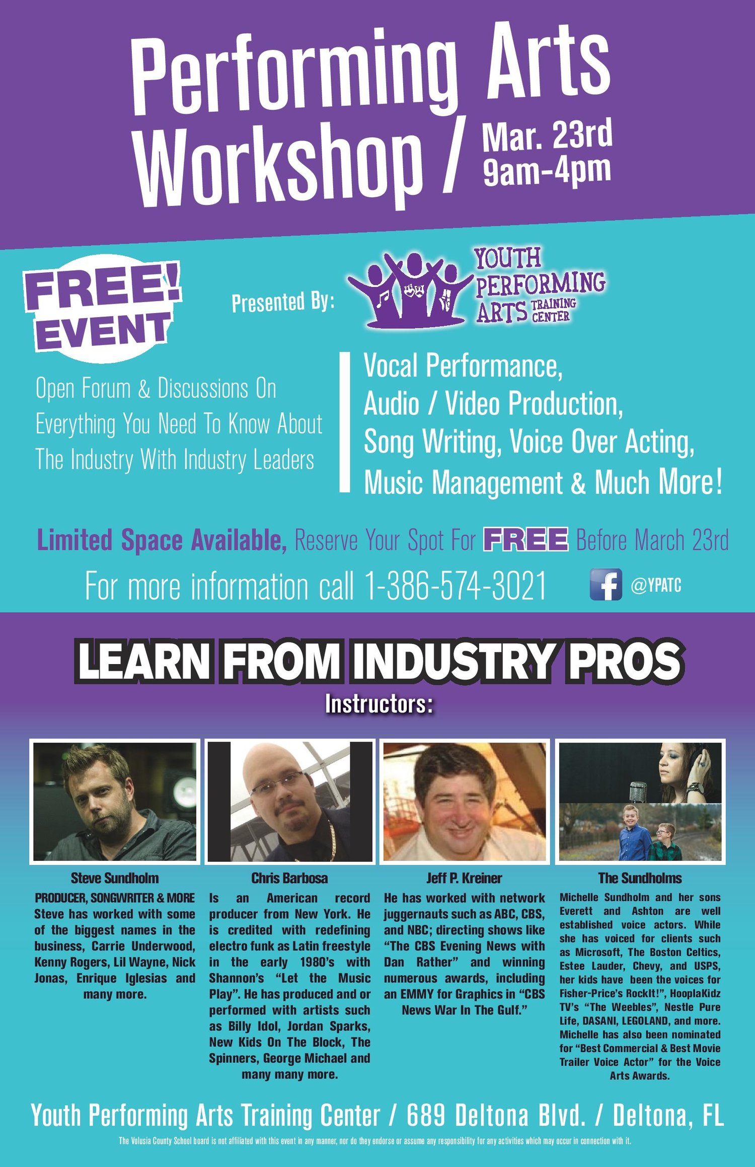 Preforming Arts Workshop — Ryan Ace Music