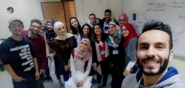 Photo Description: A selfie of the organizers of the National Mental Health Campaign in Jordan.