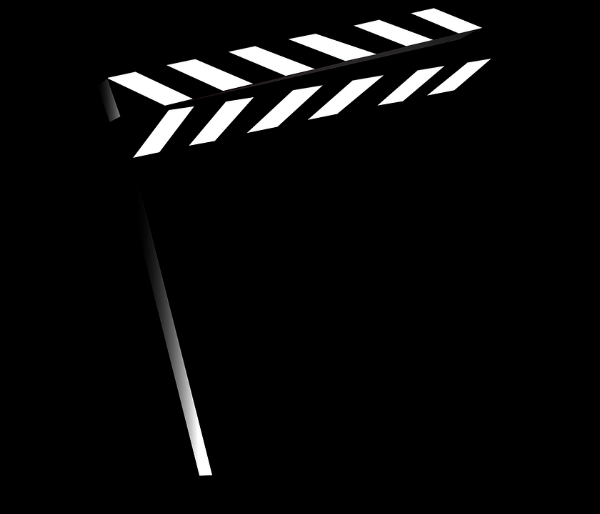 Image Description: Simple image of a clapboard.