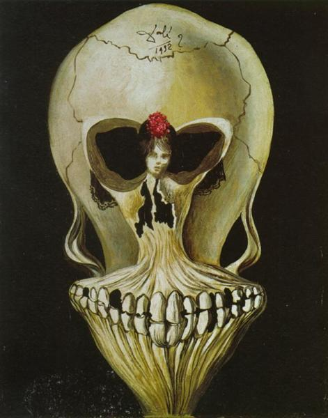 Photo Description: Ballerina in deaths head by Salvador Dali.