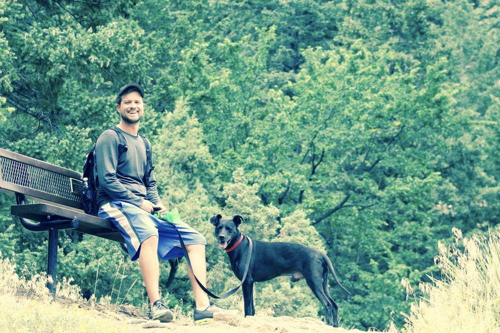 The ones that keep me sane and keep me going. George and Gus on our last road trip adventure from Florida to Colorado. (Pictured here: El Dorado State Park, Colorado).
