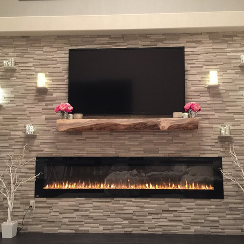 Live Edge Rustic Pine Fireplace Mantel