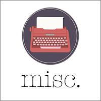 misc. writing & social media