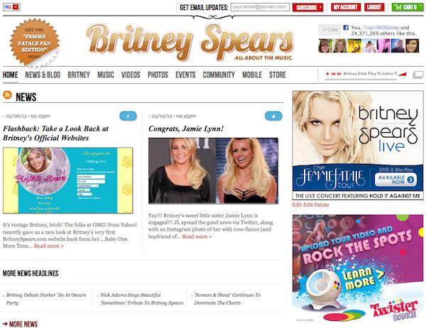 britney.com | 2011