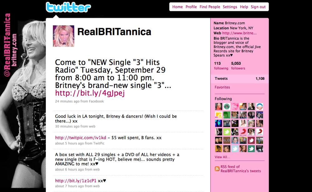 britney.com twitter | 2009