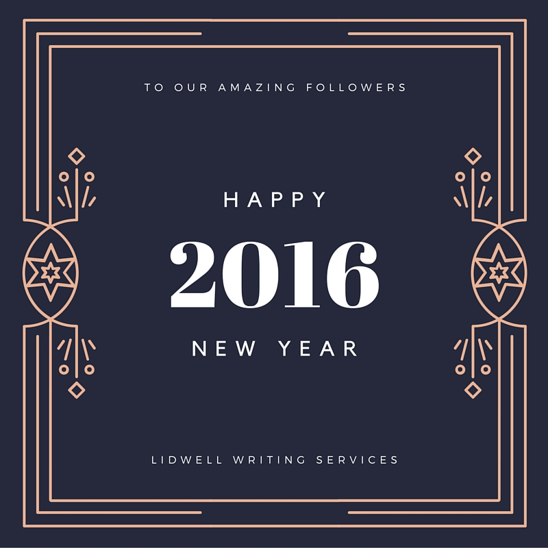 Happy New Year from Lidwell Writing Services!