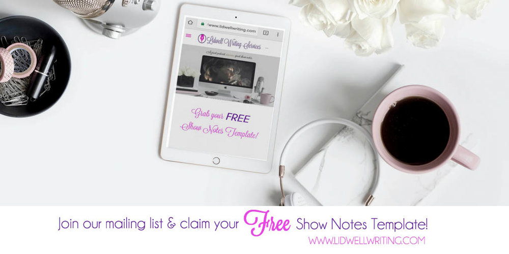 Free Show Notes Template