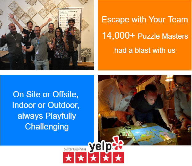 BreakoutIQ Escape Room Games. Indoor or Outdoor, On-site or Offsite