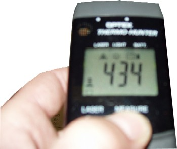 Digital Readout When Testing Oven