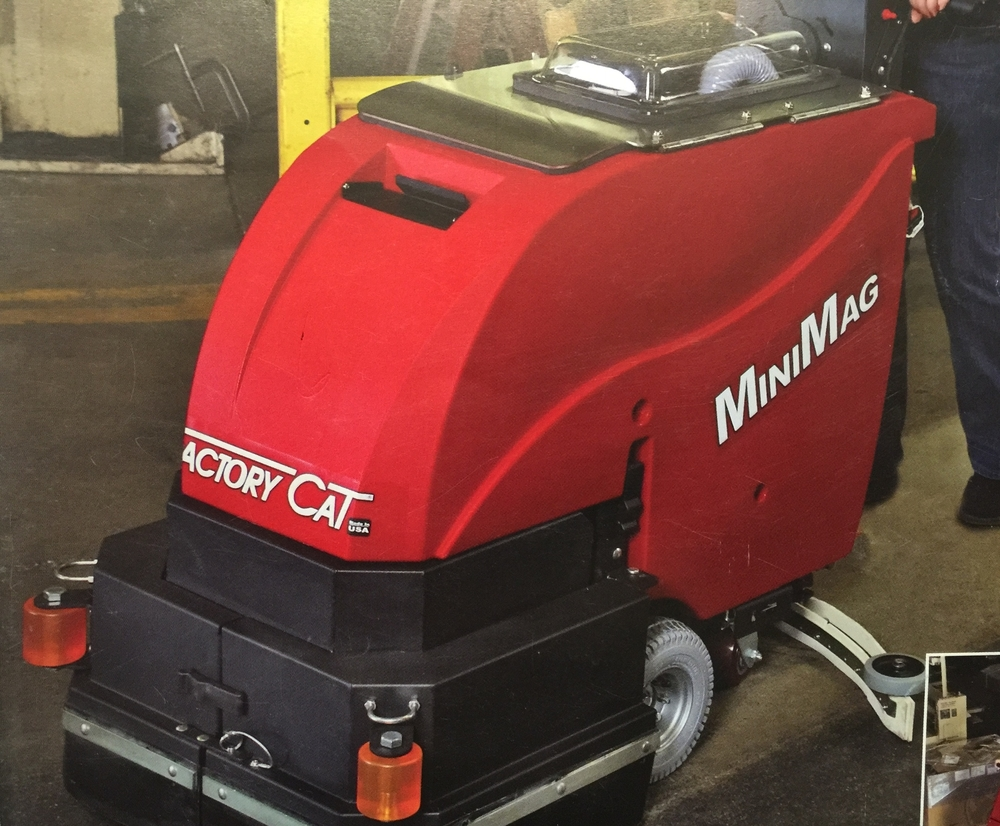 "Factory Cat 150 Micro-Mag 20"" Walk Behind Scrubber Self-Propelled"