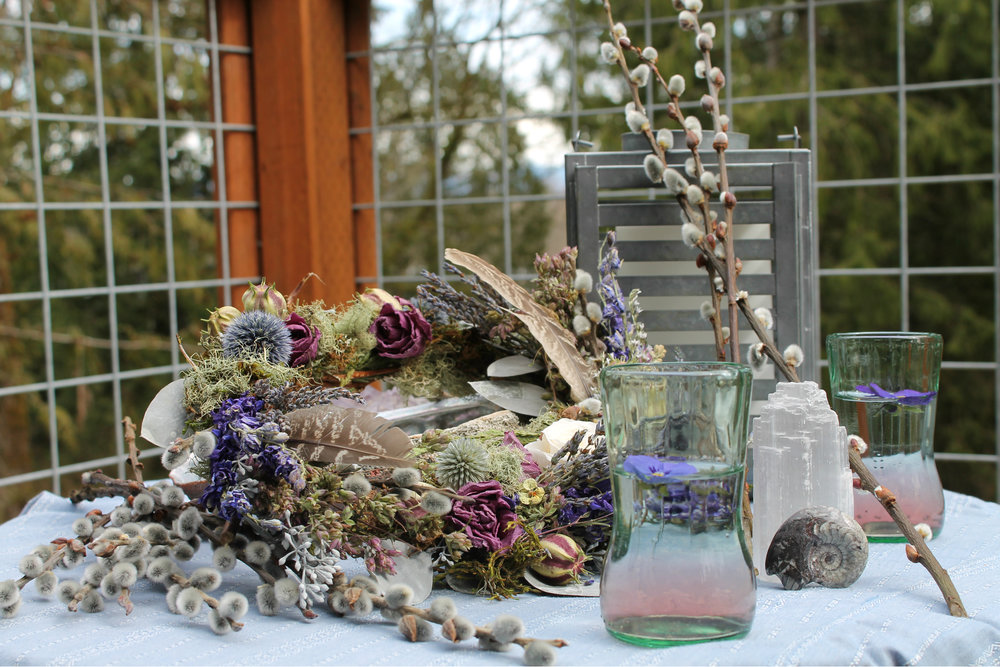 Galvanized Abalone tablescape inspiration by Westerwisp.