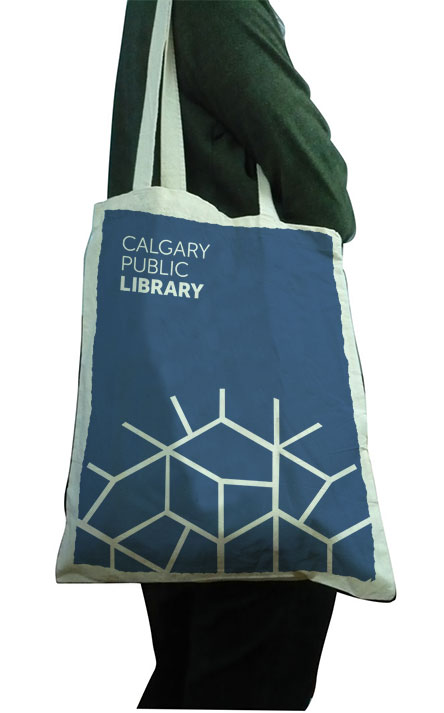 Proposed design for library bags.