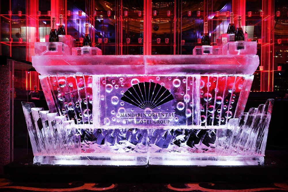 Mandarin Oriental Logo Embedded Ice Bar with Bottle Chillers*.jpg