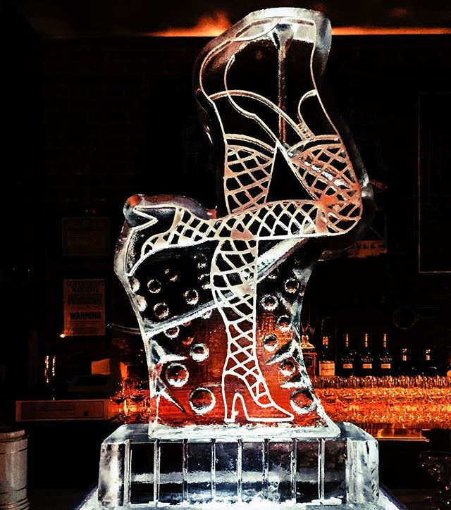 An ice luge with fishnet stockings... now you've seen it all! . . . #ice #iceluge #luge #snowfill #engrave #design #cancan #cancanlegs #legs #sexy #fun #unique #drinks #cocktailhour #birthday #bachelorparty #bacheloretteparty #party #partyinspiration #event #eventinspiration #can-can #drinkluge #bar #shots #eventplanner #nycevents #partyplanner #dancer #tastings