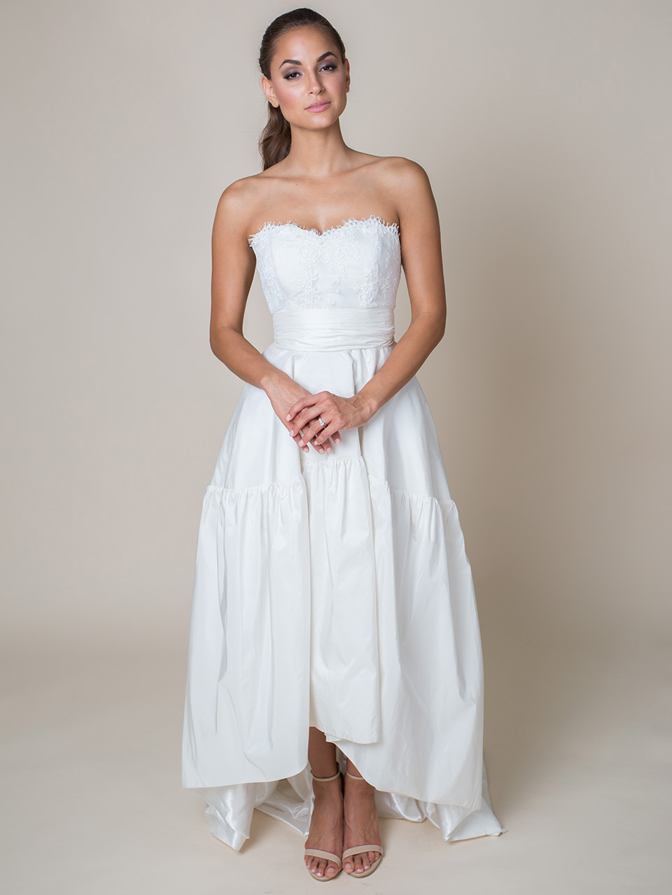LACE BODICE + RUCHED BELT