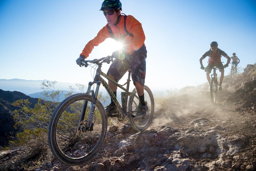 Three cyclists. Bootleg Canyon, NV