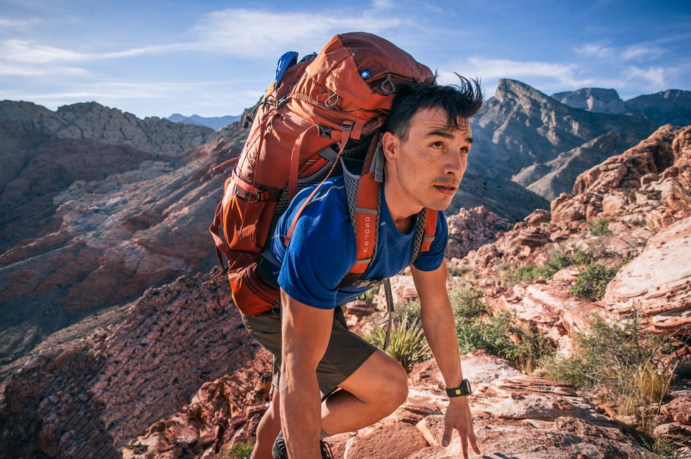 Backpacking. Red Rocks, NV