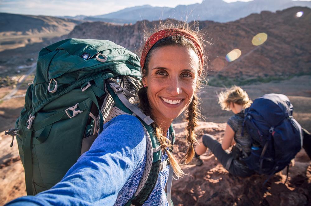 Backpacking selfie. Red Rocks, NV