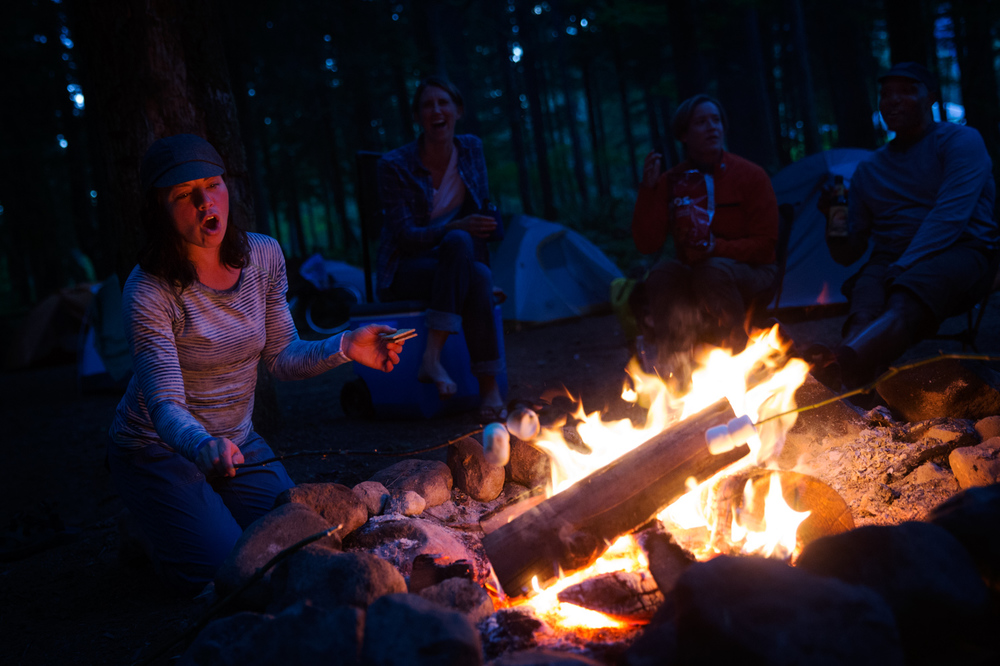 S'mores around the campfire. Mt. Baker, WA