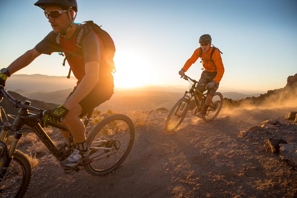 Desert sunrise ride. Bootleg Canyon, NV