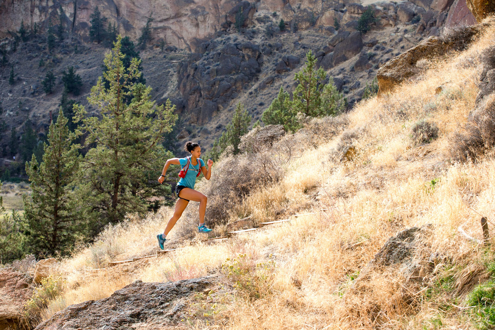 Trail running. Smith Rock Park, OR