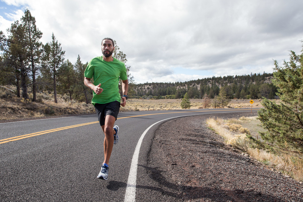 Road running. Bend, OR