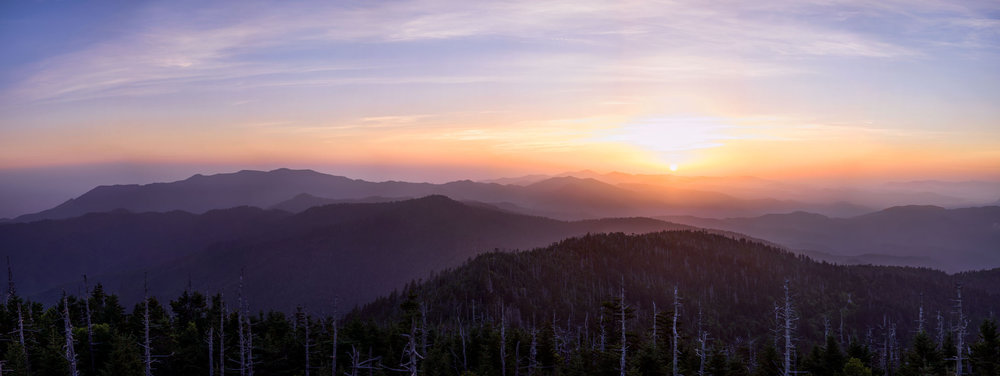 Sunrise over the Great Smoky Mountains National Park, Tennessee