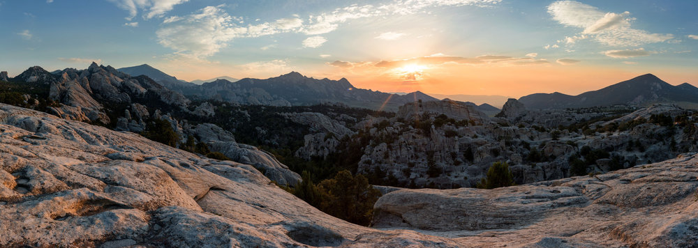 Sunrise over City of Rocks National Reserve, Idaho