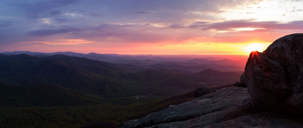 Sunrise From Old Rag Mountain, Shenandoah National Park, Virginia