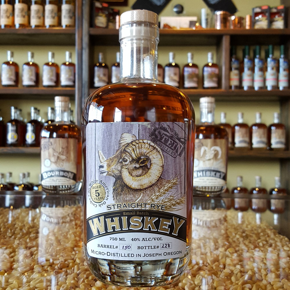 5yr Straight Ram Rye Whiskey - OLCC Code: 3125B
