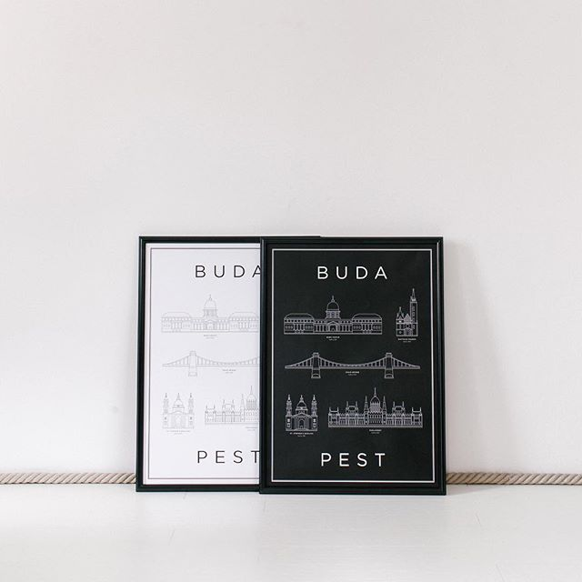 Monument with love! ...Because every space should be monumental! #HelloMonument #print #decor #homedecor #budapest #poster #black #white #belvaros #lanchid #parlament #var #budaivar #interior #home