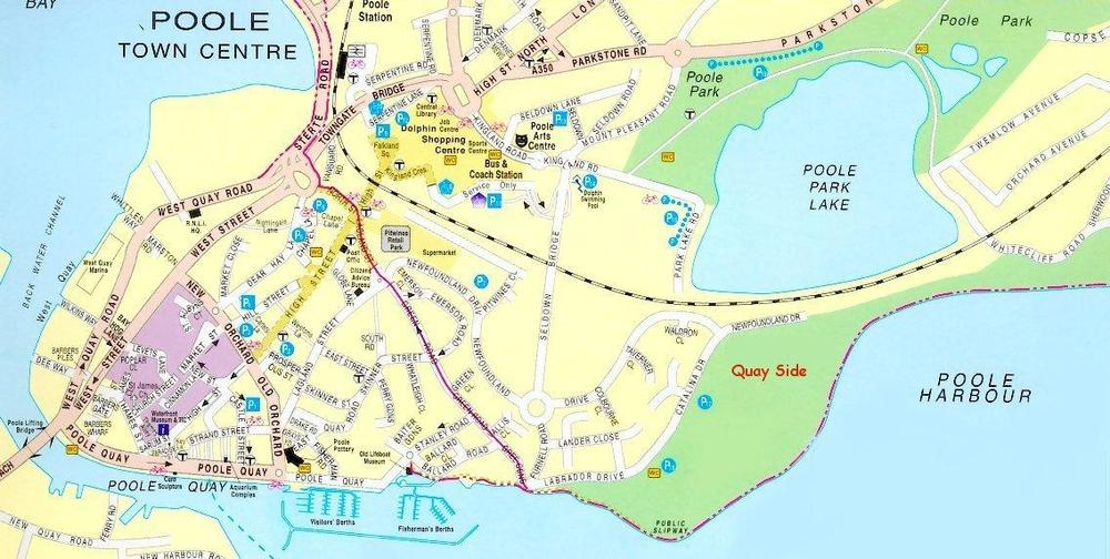 Map from Poole Tourist Board