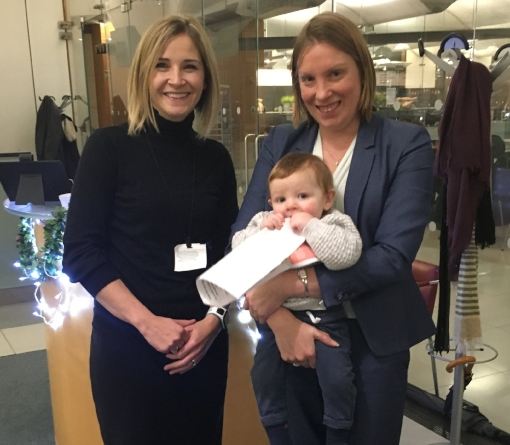 Wendy (left) meeting with Tracey Crouch, Minister for Sport (& her son) in November 2016 at the House of Commons to discuss increasing awareness of running buggies in the UK.    Click the picture to read the blog.
