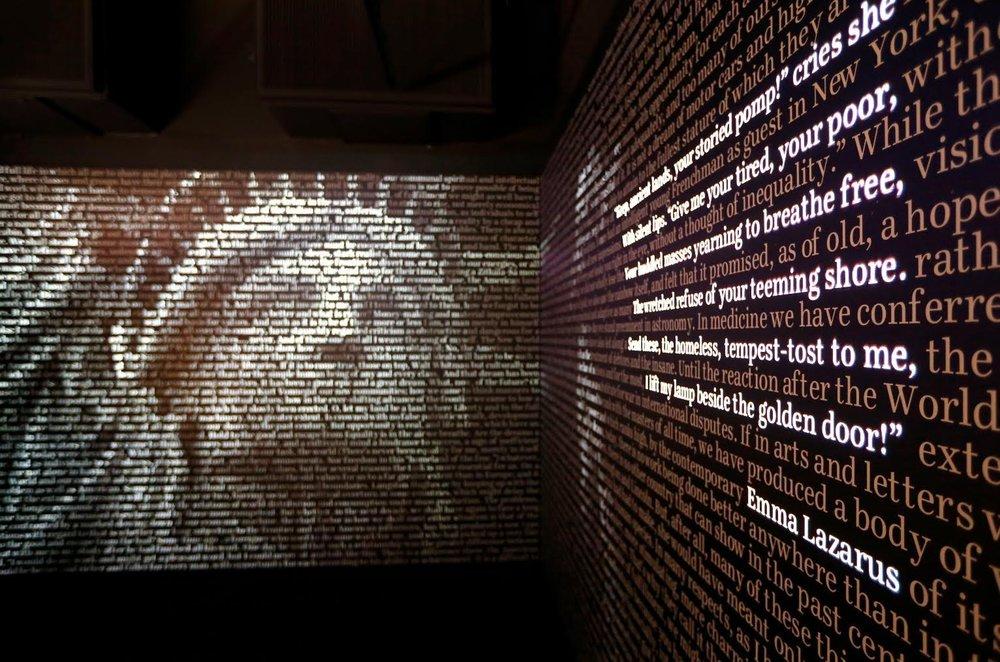 Word Waterfall Exhibit - American Writers Museum