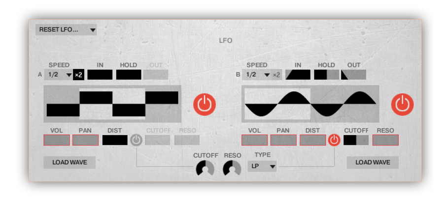 2 lfo's and 2 advanced step sequencers