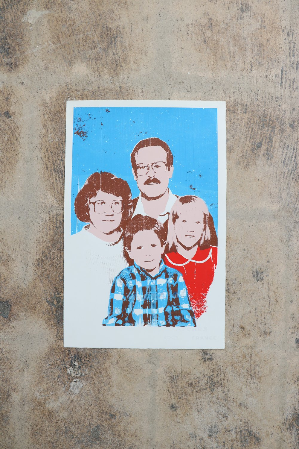 Family Portrait Screen Printed Artwork