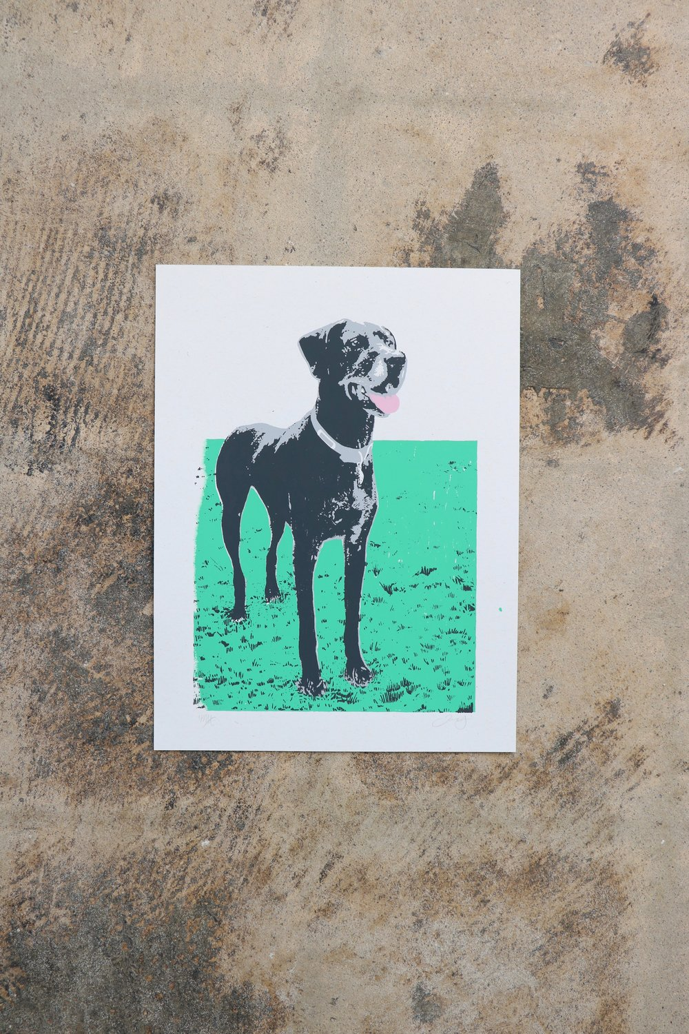 Great Dane Pet Portrait Memorial Art Print