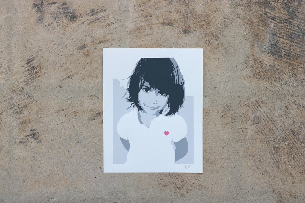 Young Girl Portrait Custom Screen Print
