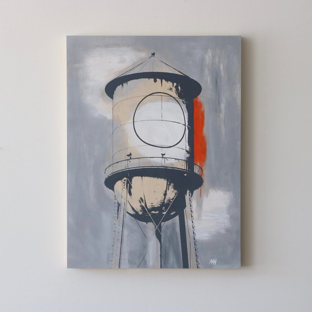 "Water Tower I  18"" x 24""  Sold"