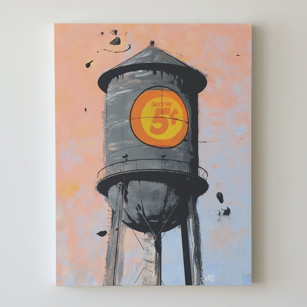"Water Tower II  18"" x 24""  Sold"