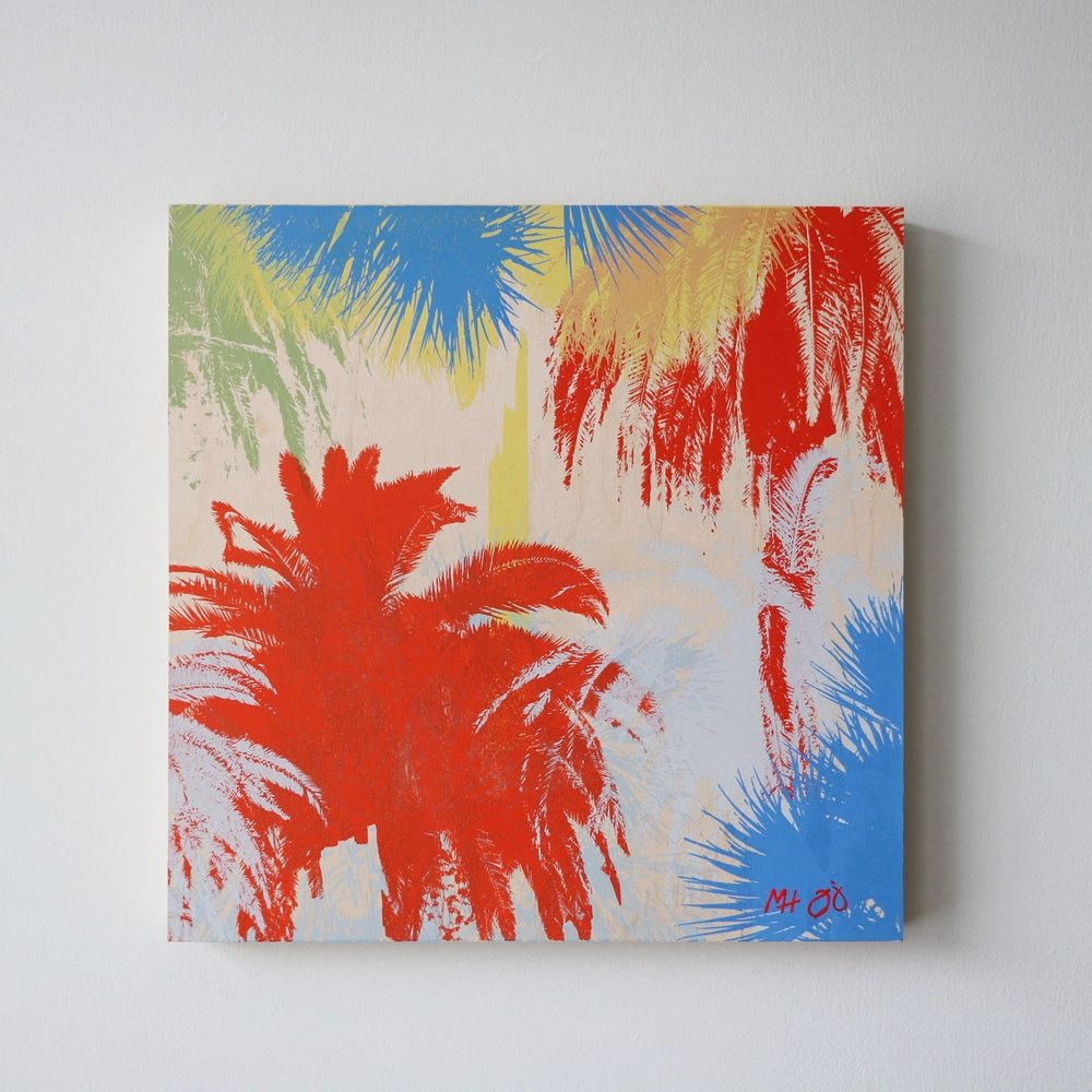 "Palm Trees II  16"" x 16"""