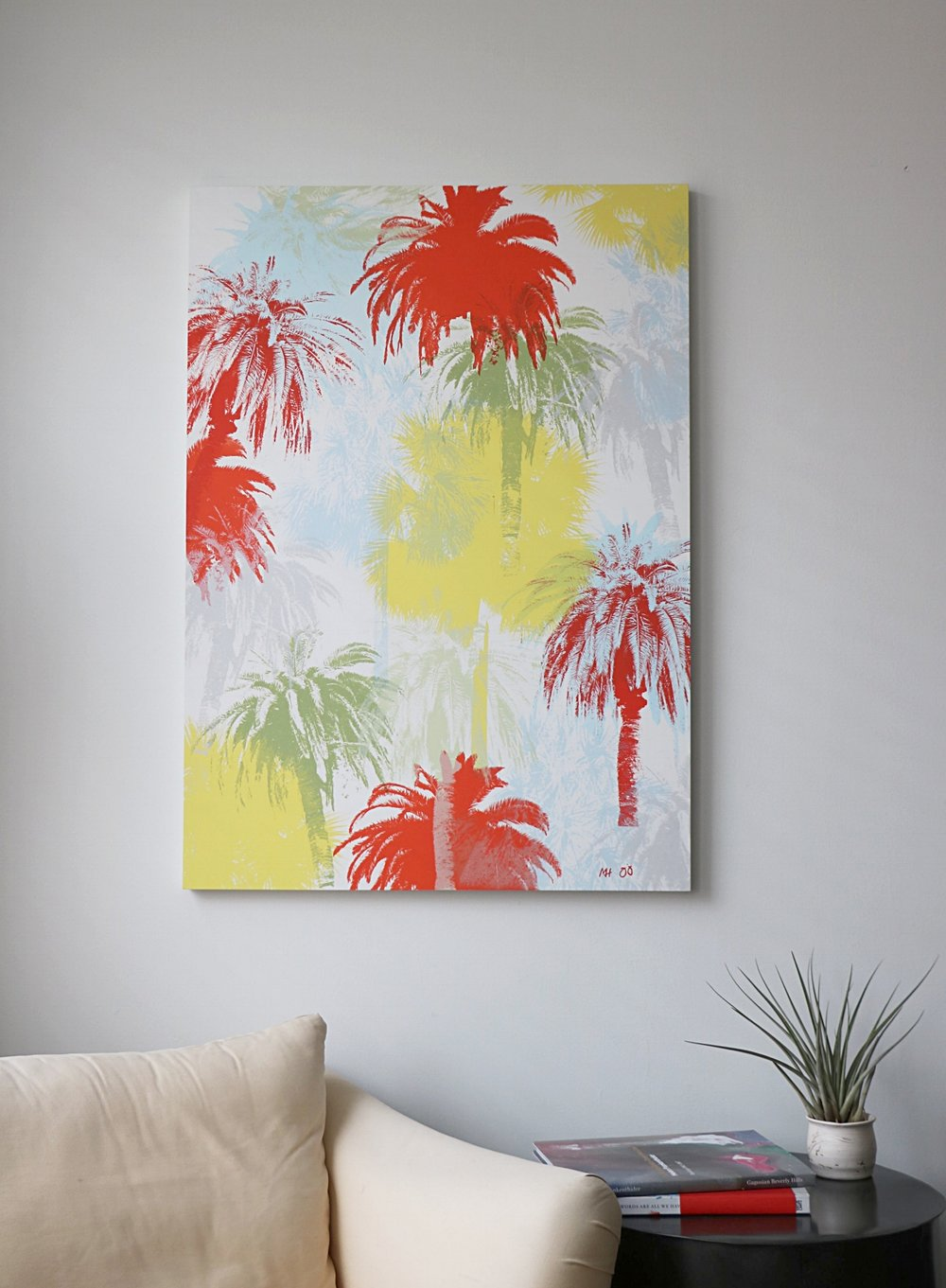 "Palm Tree Jungle  30"" x 42"""