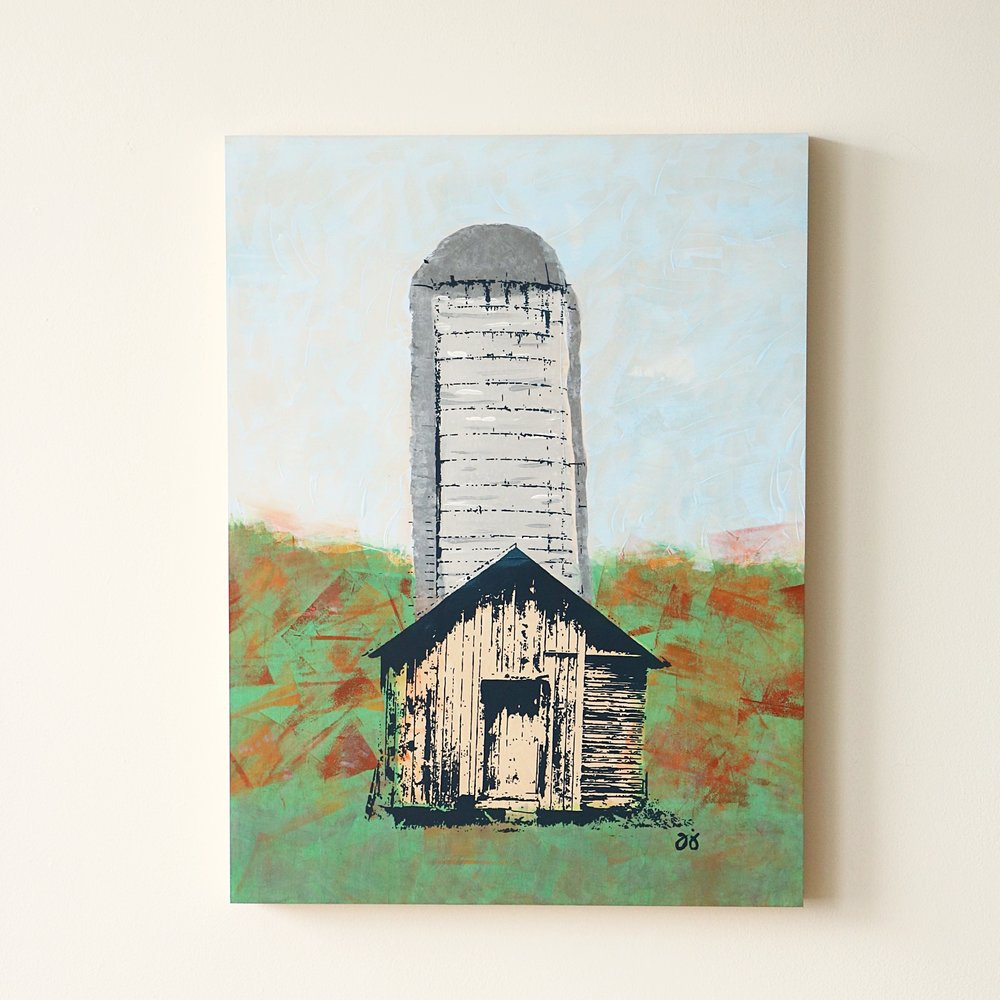 "Barn/Silo  18"" x 24""  Not currently available"