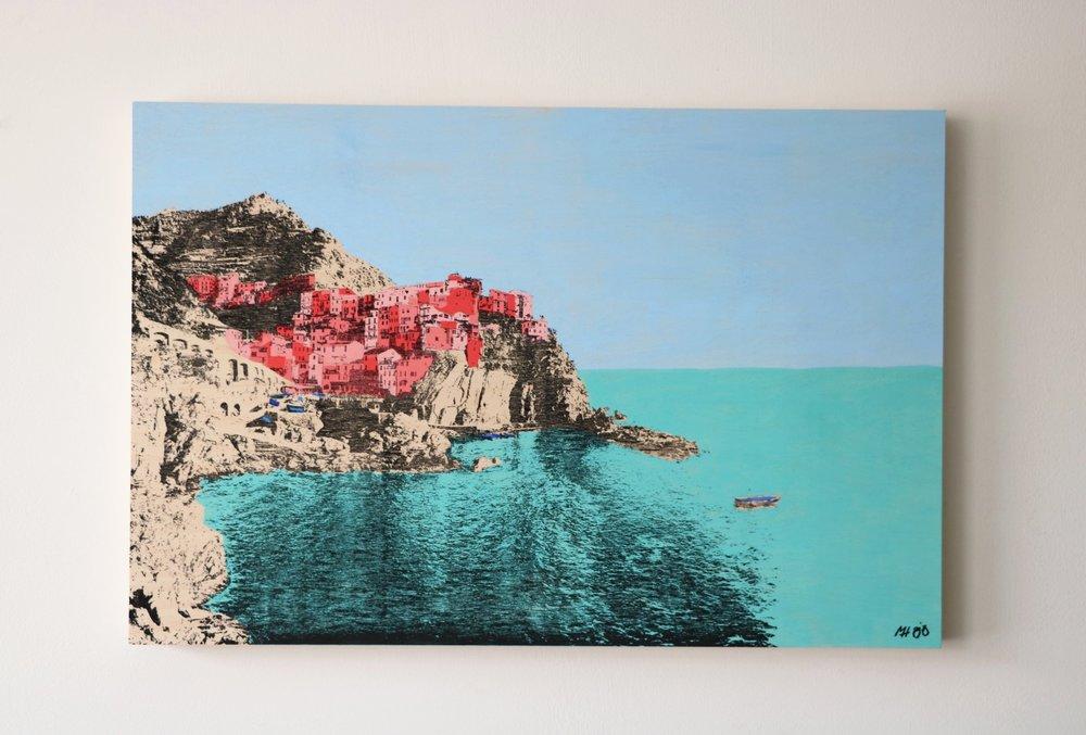 """Manarola, Italy I  30"""" x 20""""  Sold"""
