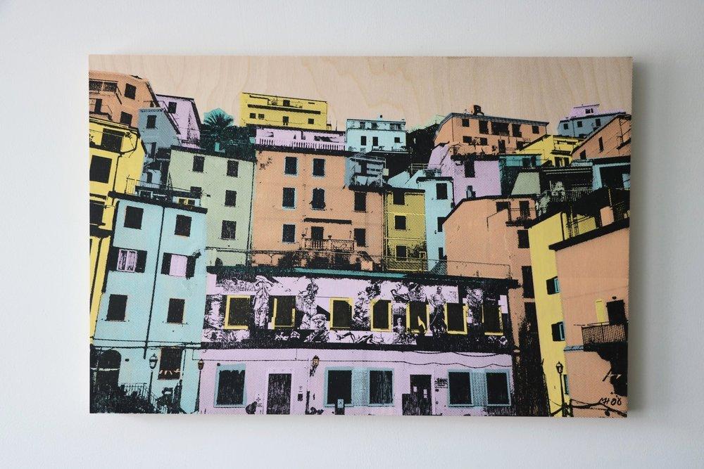 """Riomaggiore, Italy I  30"""" x 20""""  Sold"""