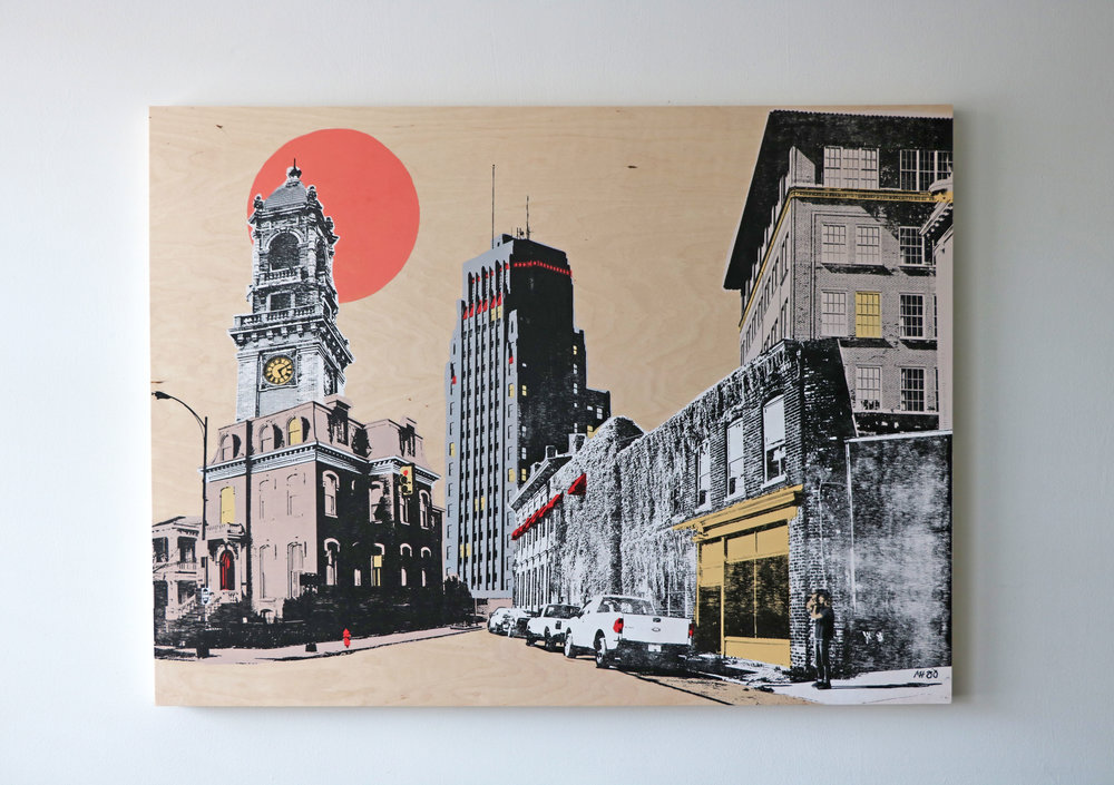 "Cityscape II  40"" x 30""  Sold"