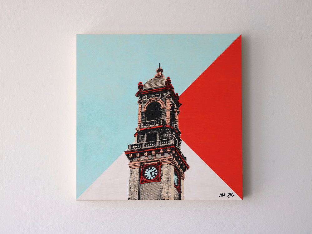 "Jefferson Clock Tower  16"" x 16"""