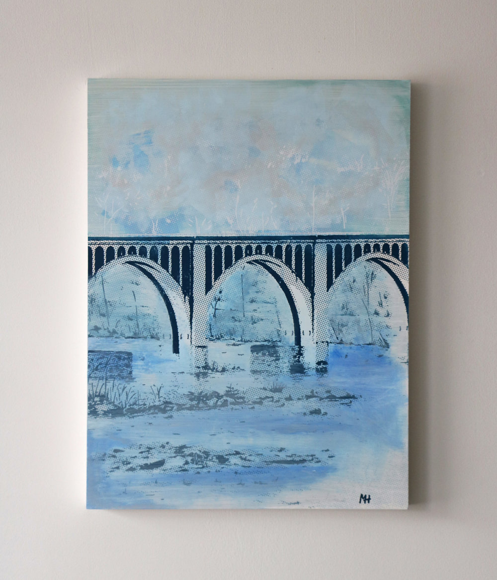 "CSX Bridge II  18"" x 24""  Sold"
