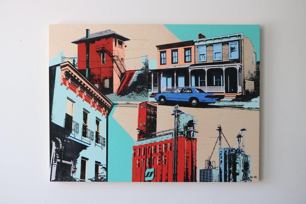 "Cityscape III  40"" x 30""  Sold"